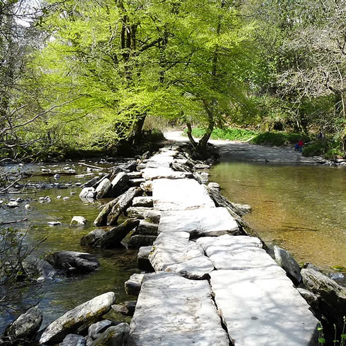 Paddle in the River at Tarr Steps